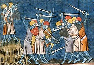 English: Battle with the Normans
