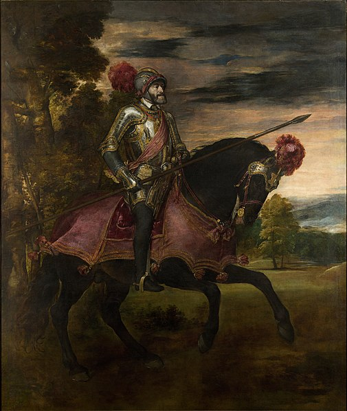 Ficheiro:Carlos V en Mühlberg, by Titian, from Prado in Google Earth.jpg