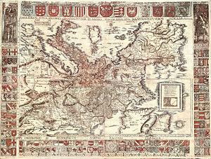 Map of Europe drawn by Martin Waldseemueller d...