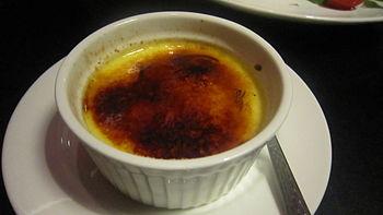 English: Crème brûlée