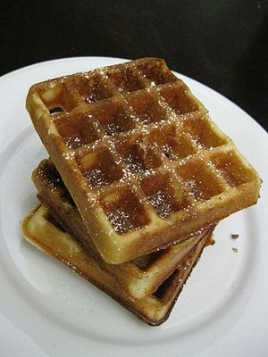 English: Crispy Waffles.