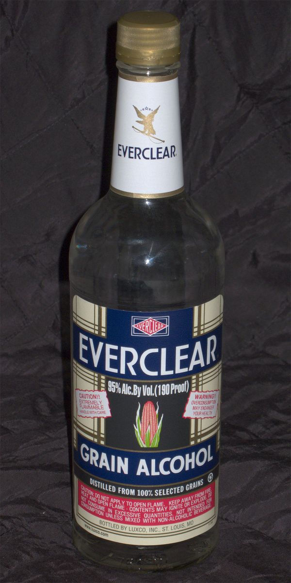 Everclear Alcohol 190 Proof