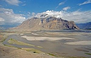 English: River Indus near Skardu (Pakistan) De...