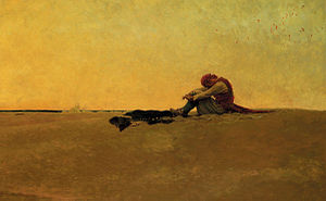 Pyle's 20th century illustration of a marooned...