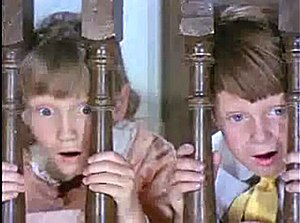 Screenshot of Karen Dotrice and Matthew Garber...