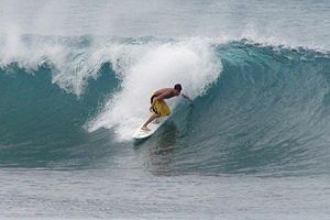 Pipeline on the north shore of Oahu where Hami...