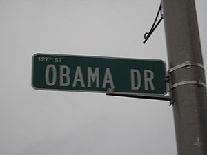 The first and only street named after the 44th...