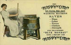 English: Advertising postcard, picture side, f...