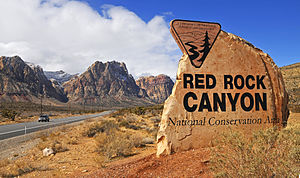 Red Rock Canyon National Conservation Area ent...