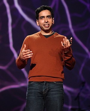 Salman Khan, famous for the Khan Academy, spea...