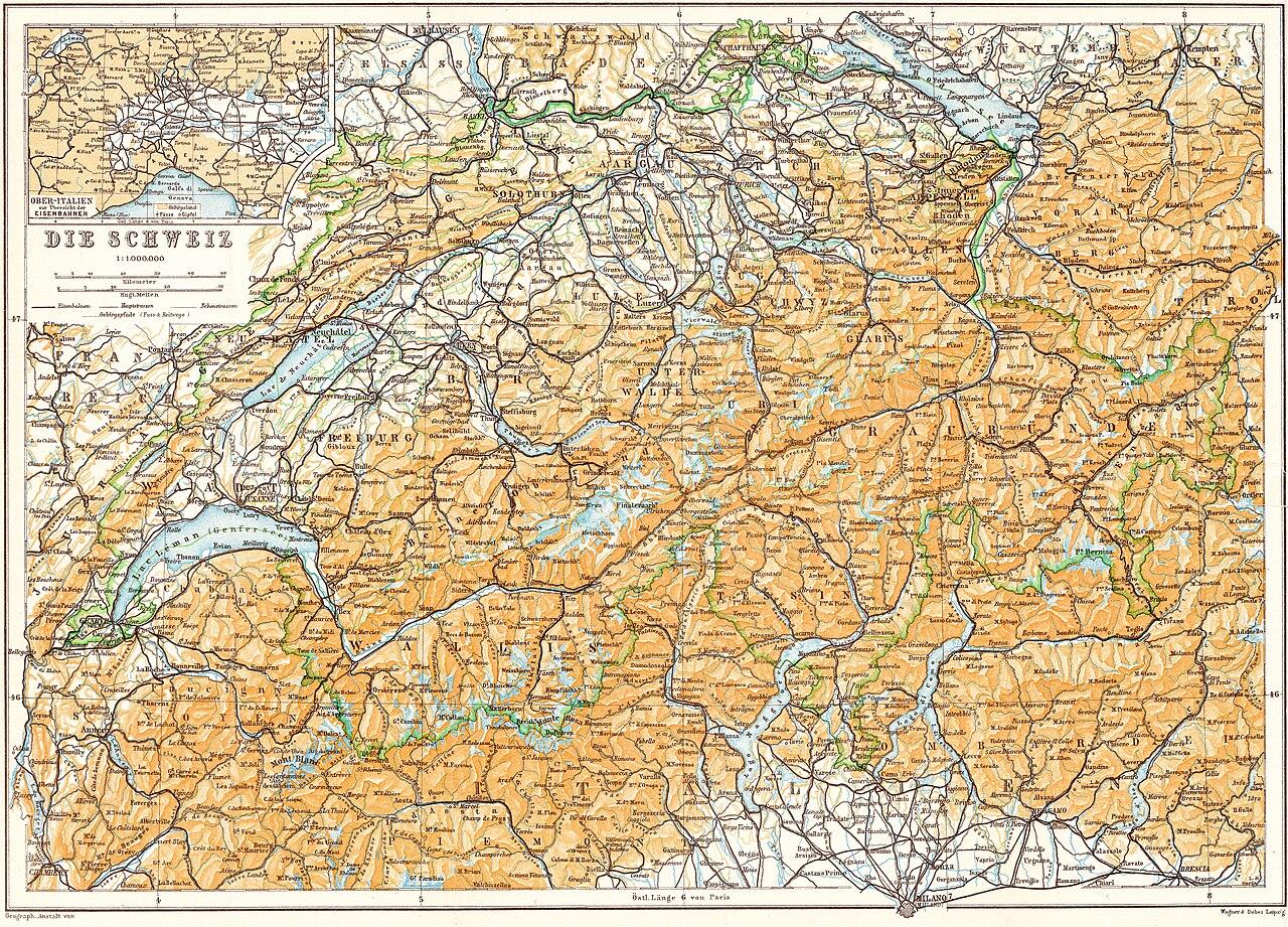 Karte Tirol.Schweiz Tirol Karte