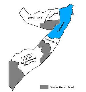 Location of Puntland State of Somalia