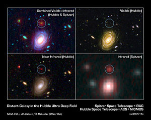 Big Galaxy in Baby Universe