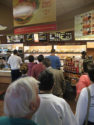 A typical queue at Tim Hortons