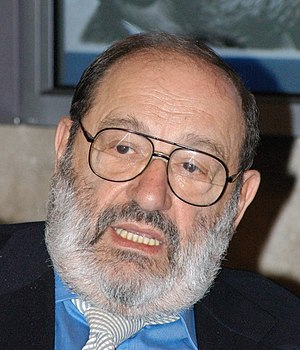 Umberto Eco - italian philosopher and novelist