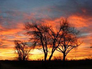 West Texas sunrise near Fritch,TX