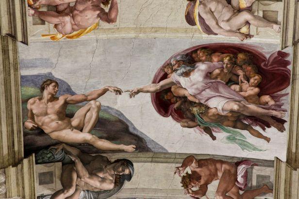 'Adam's Creation Sistine Chapel ceiling' by Michelangelo JBU33