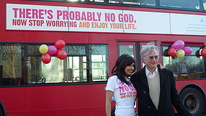English: Atheist Bus Campaign creator Ariane S...