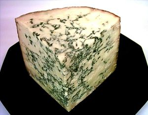 Blue Stilton PDO Cheese, one quarter of a half...
