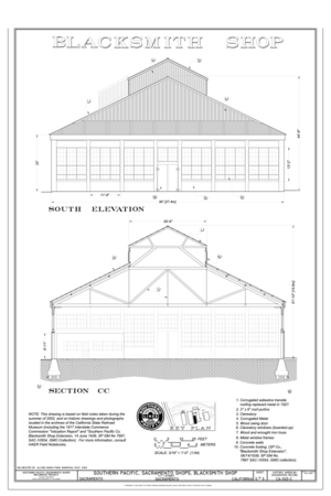 File:Blacksmith Shop East Elevation, West Elevation