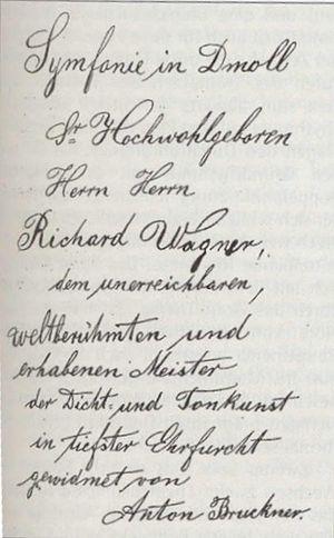 opdracht 3e symfonie van Bruckner aan Wagner