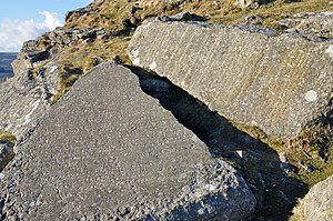The Ten Commandments inscribed on granite on B...