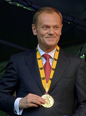 Donald Tusk at the Karlspreis-award 2010