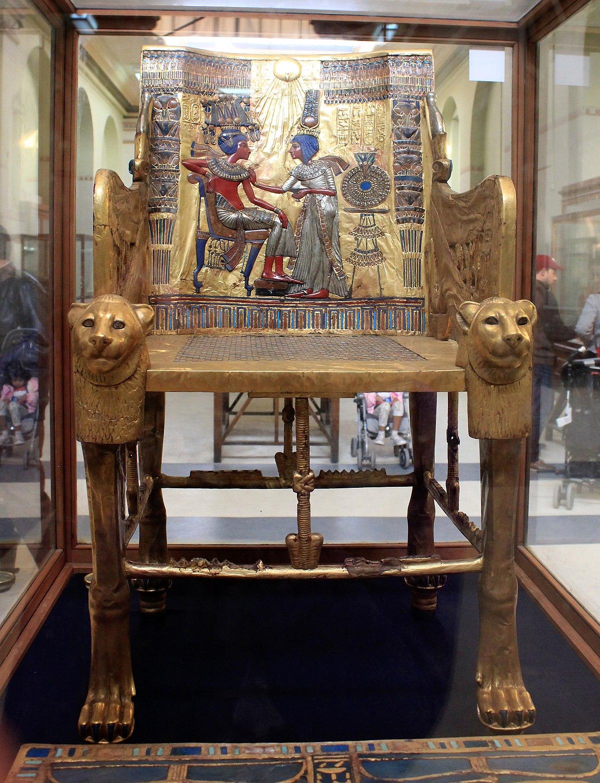 Trono de Tutankamn  Wikipedia la enciclopedia libre