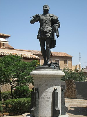 Garcilaso de la Vega statue, Toledo, Spain.