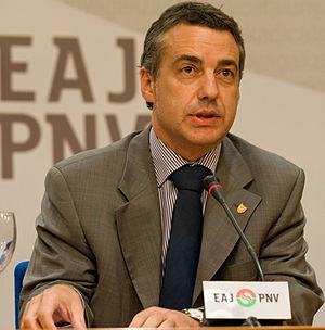 Fotografia de Iñigo Urkullu presidente del PNV...