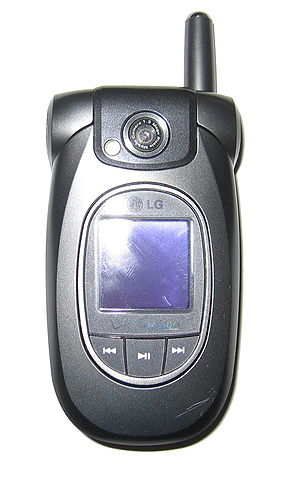 An LG VX8300 mobile phone