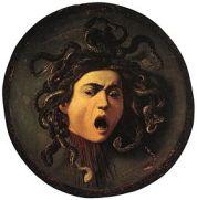 Méduse est une peinture à l'huile sur cuir marouflé du peintre Le Caravage, exécutée en 1597-15981, sur un bouclier de parade en bois de peuplier, œuvre conservée à la Galerie des Offices à Florence.