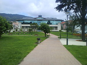 Plaza do concello de Moaña, Pontevedra, Galici...