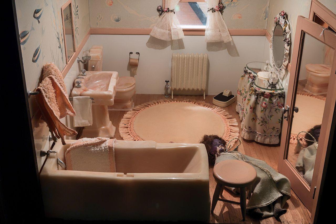 FileNutshell Studies of Unexplained Death Pink Bathroom