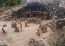 Representación de un poblado guanche
