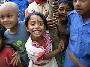 Rural children, Bangladesh.