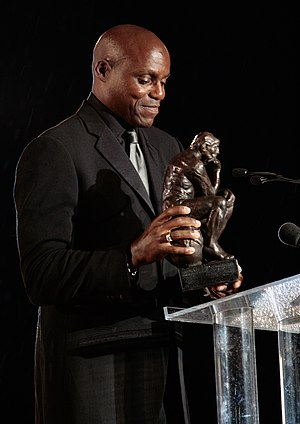 Carl Lewis during the Save the World Awards 20...