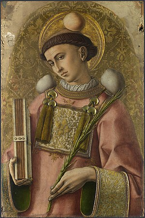 Depiction of St. Stephen from The Demidoff Alt...
