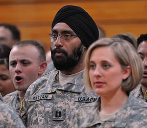 English: Army Captain Tejdeep Singh Rattan, on...