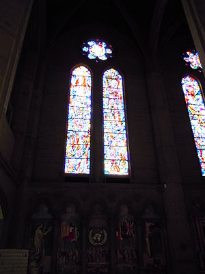 Glass paintings at Grace Cathedral, San Franci...