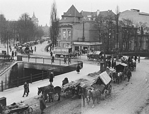 Civilians escaping from Gdansk, February 20 or...