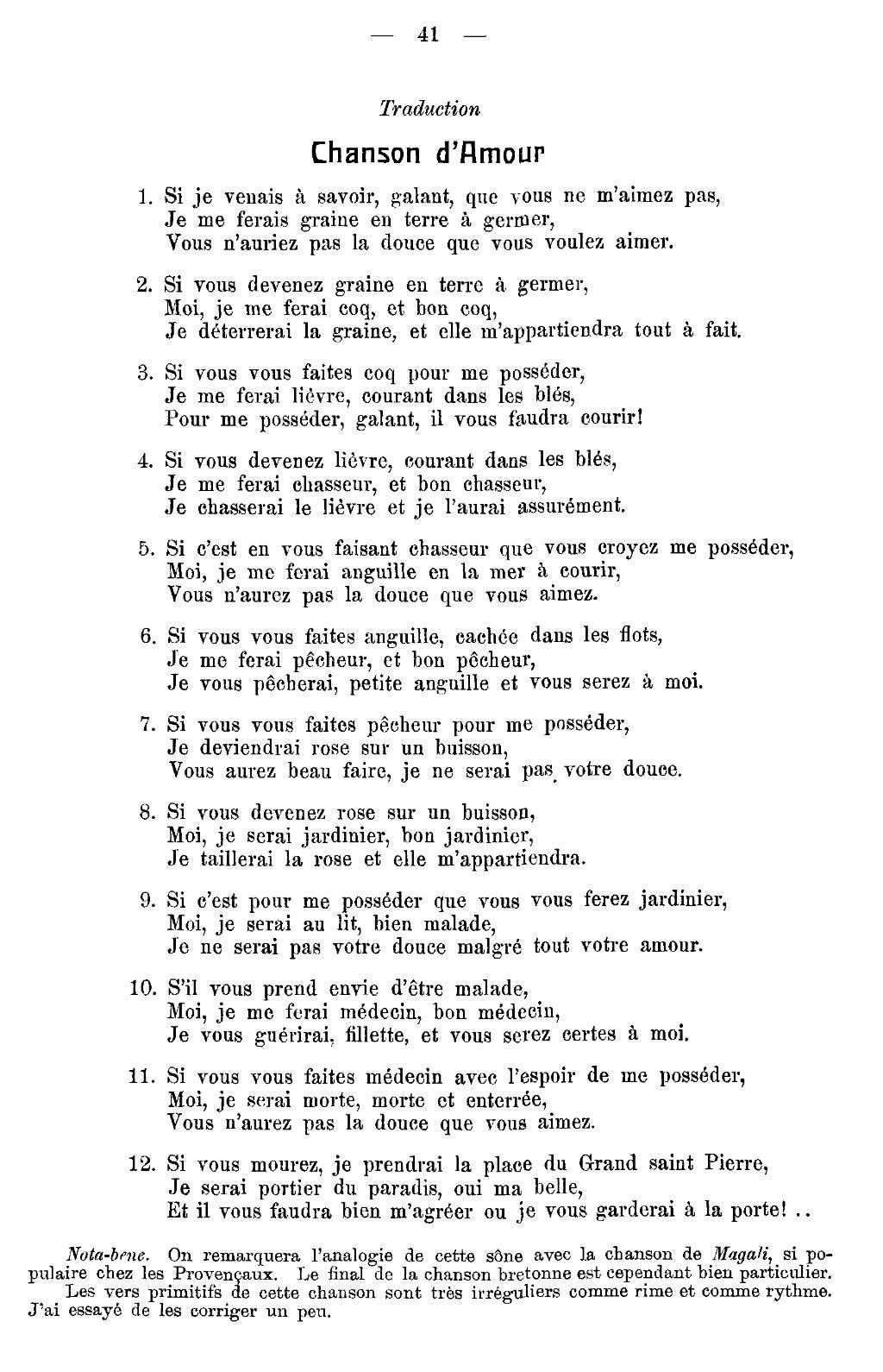 Chanson Si Je Vous Aime : chanson, Page:Guillerm, Herrieu, Recueil, Melodies, Bretonnes.djvu/43, Wikisource