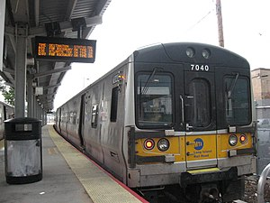 Lirr Train At The Existing Terminus In Far Rockaway