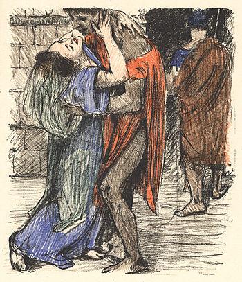 Illustration aus: Das hohe Lied, farbige Orig....