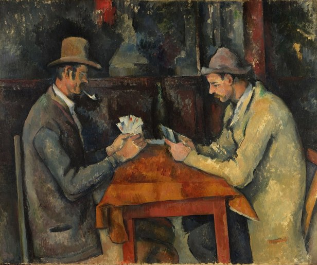 """""""The Card Players"""" by Paul Cézanne (Courtauld Gallery)"""