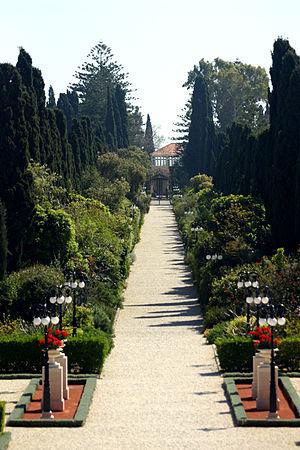 Shrine of Bahá'u'lláh, North entrace (through ...