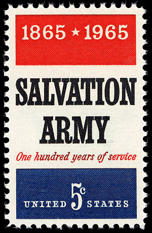 English: stamp USA 1965 – 100 years Salvation Army