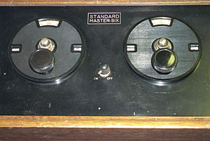 English: Typical Dial Layout of Tuned Radio Fr...