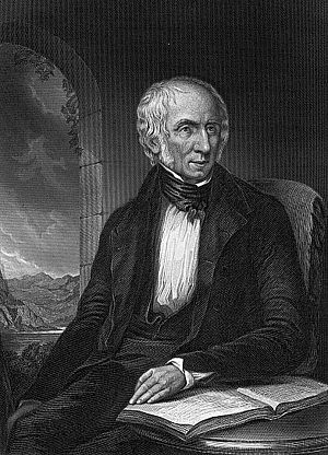 English: A portrait of William Wordsworth. Thi...