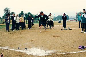 Muong women in Hoa Binh, Vietnam playing game ...